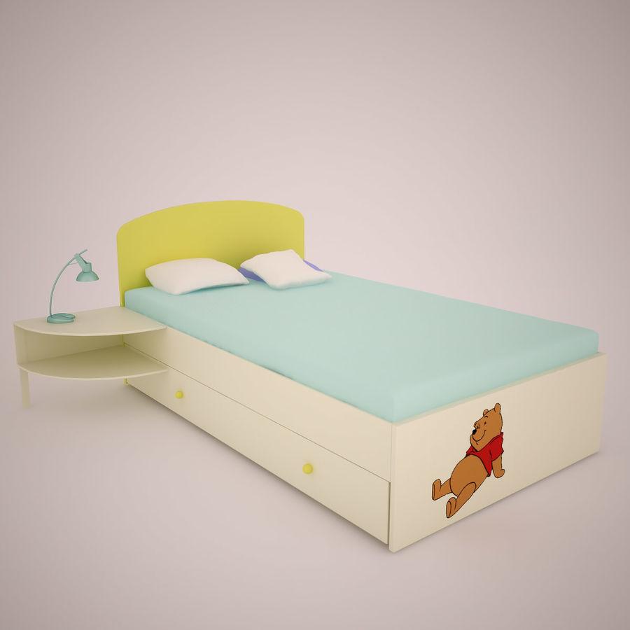 Mobília do quarto de Chilren royalty-free 3d model - Preview no. 2
