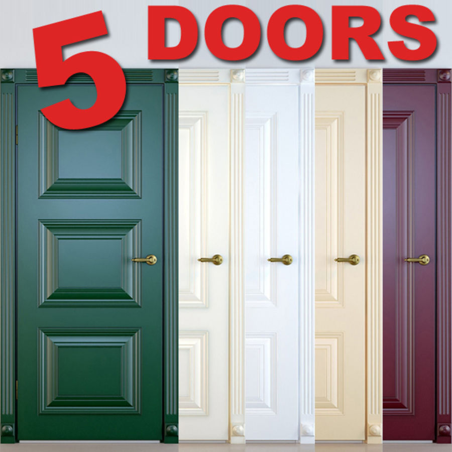 5 Doors royalty-free 3d model - Preview no. 1