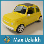 Cartoon toy car 3d model