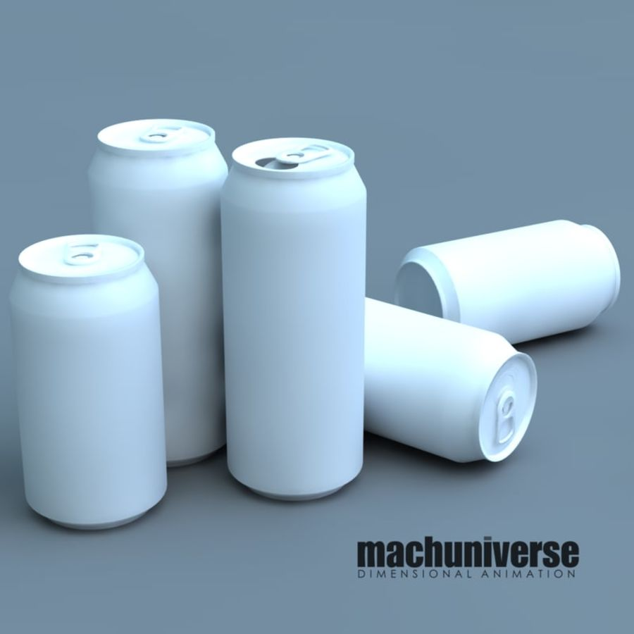 12 and 16oz Soda Cans royalty-free 3d model - Preview no. 3