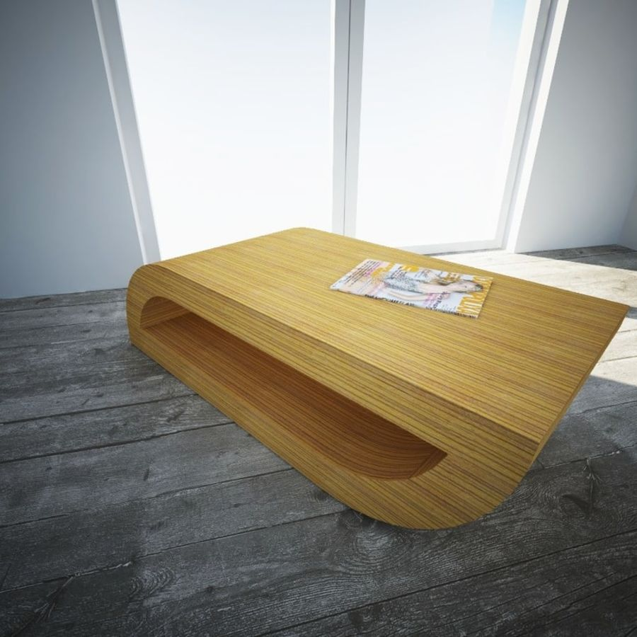 Coffee table , Roche Bobois royalty-free 3d model - Preview no. 1