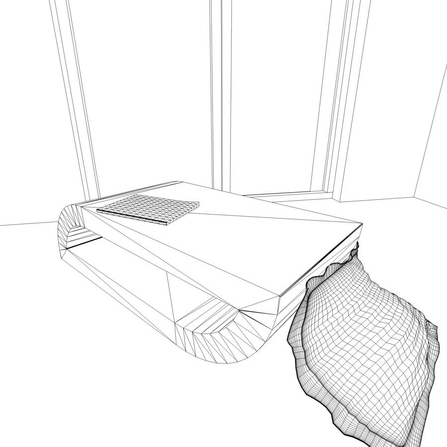 Coffee table , Roche Bobois royalty-free 3d model - Preview no. 4