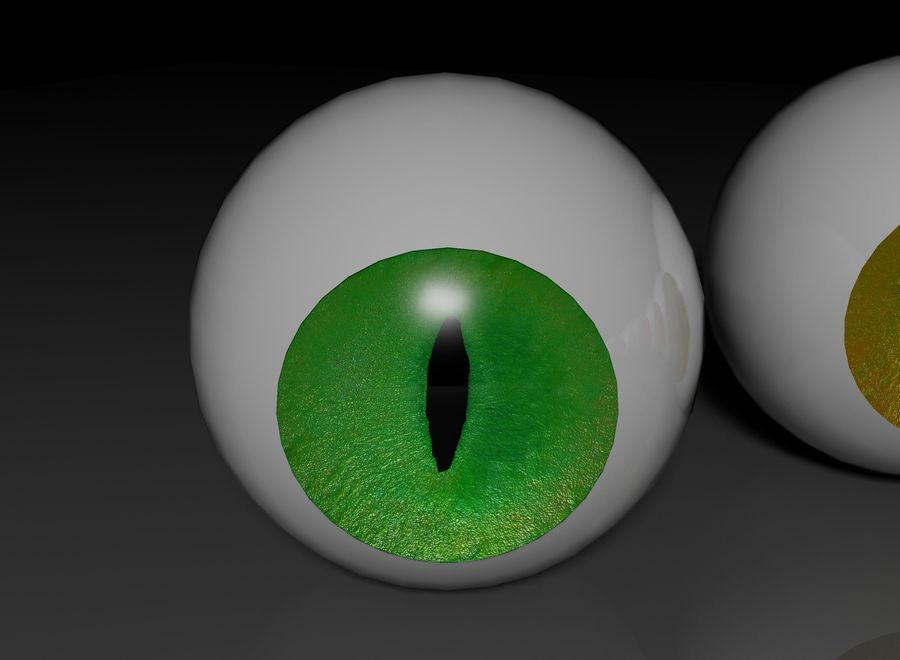 eyes royalty-free 3d model - Preview no. 3