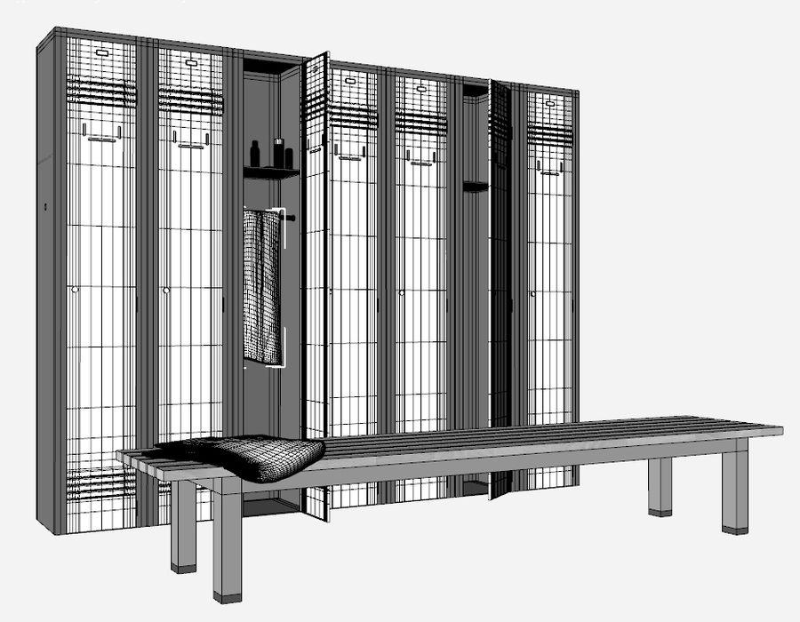 locker room royalty-free 3d model - Preview no. 3