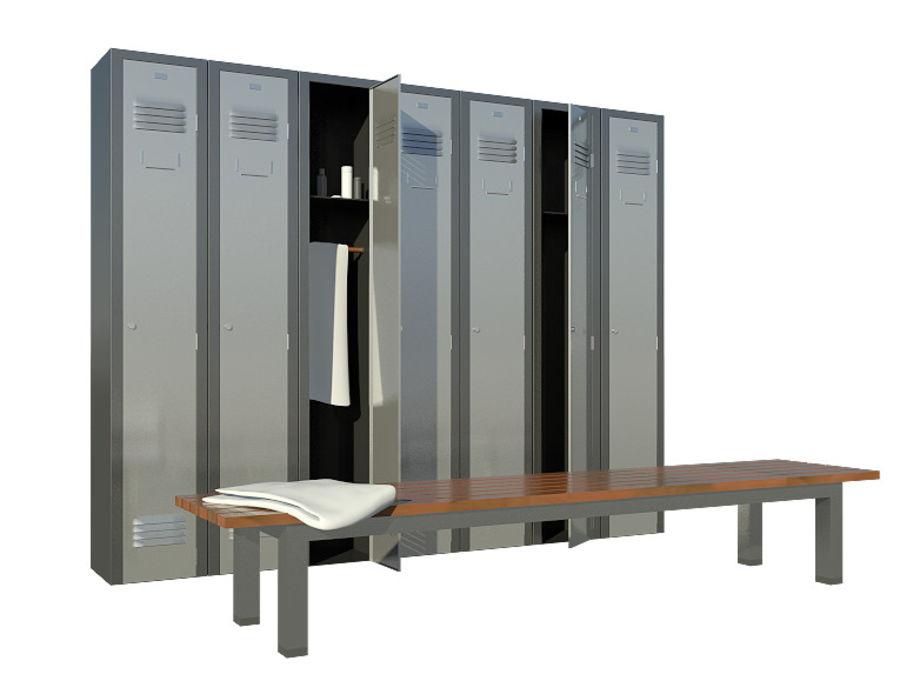 locker room royalty-free 3d model - Preview no. 4