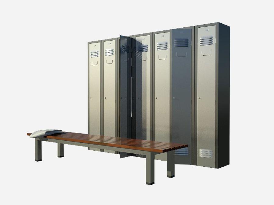 locker room royalty-free 3d model - Preview no. 2