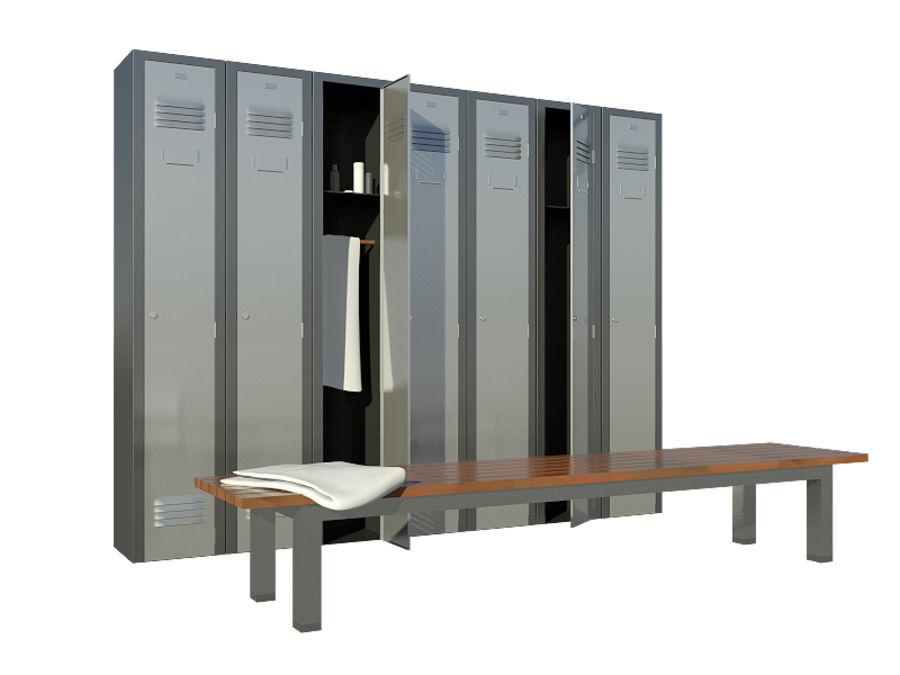 locker room royalty-free 3d model - Preview no. 1