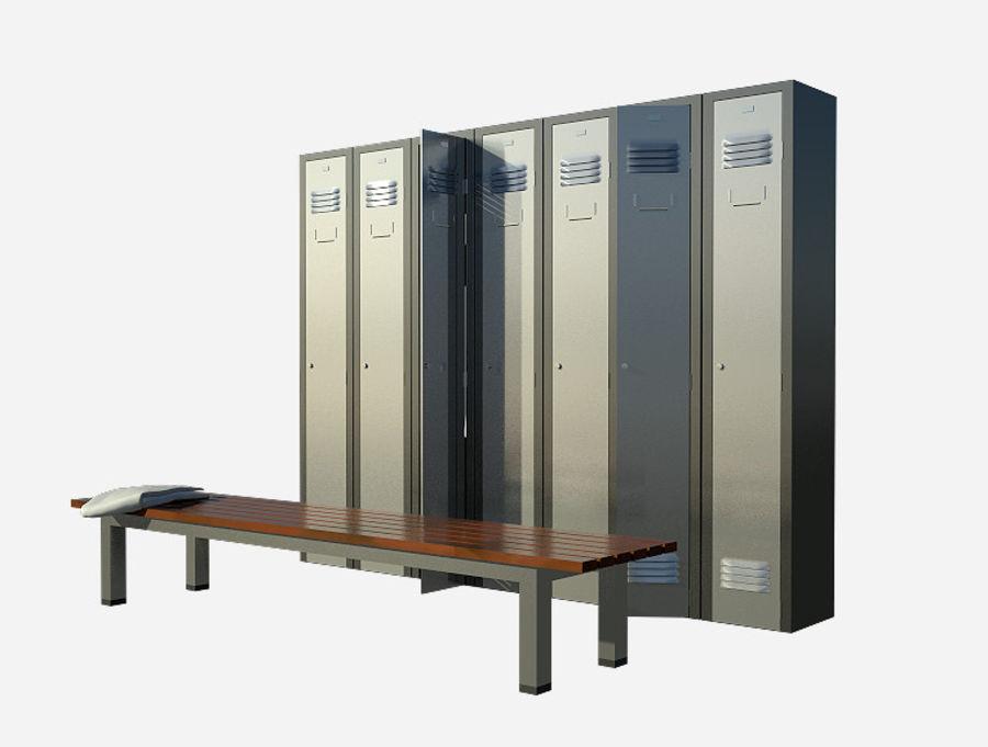 locker room royalty-free 3d model - Preview no. 5