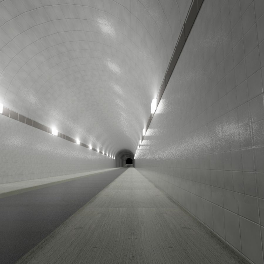 Tunnel - Road royalty-free 3d model - Preview no. 2