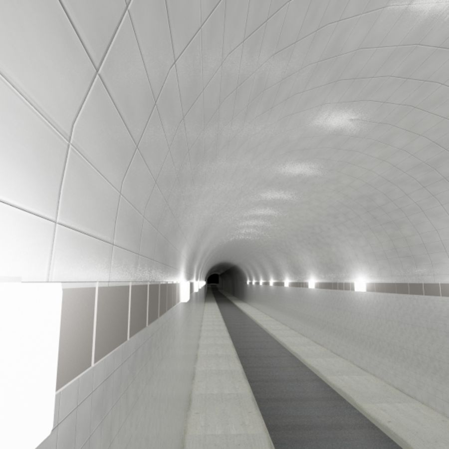 Tunnel - Road royalty-free 3d model - Preview no. 4