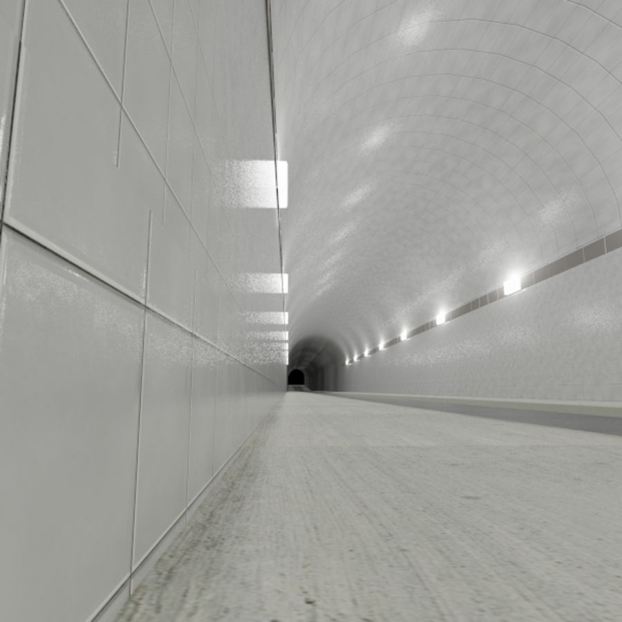 Tunnel - Road royalty-free 3d model - Preview no. 3