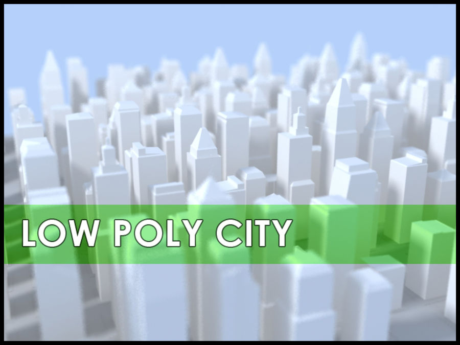 Low Poly City royalty-free 3d model - Preview no. 1