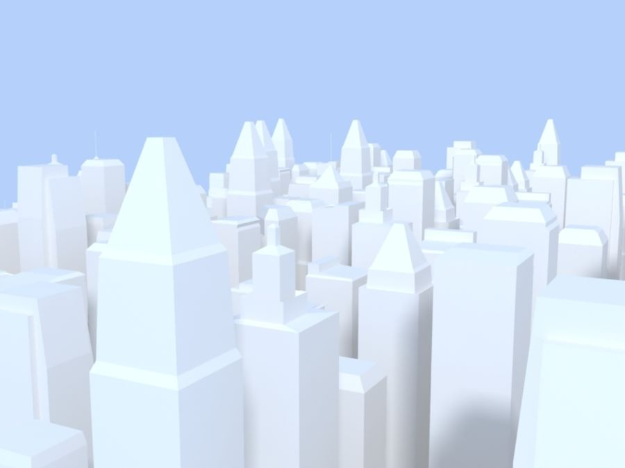Low Poly City royalty-free 3d model - Preview no. 7