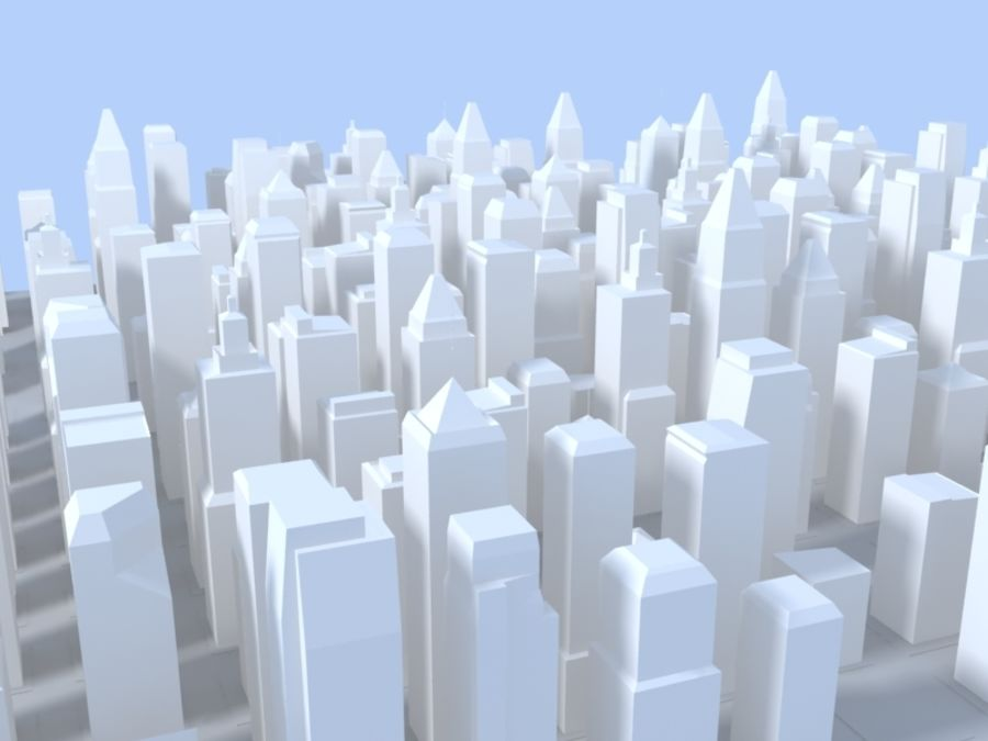 Low Poly City royalty-free 3d model - Preview no. 4