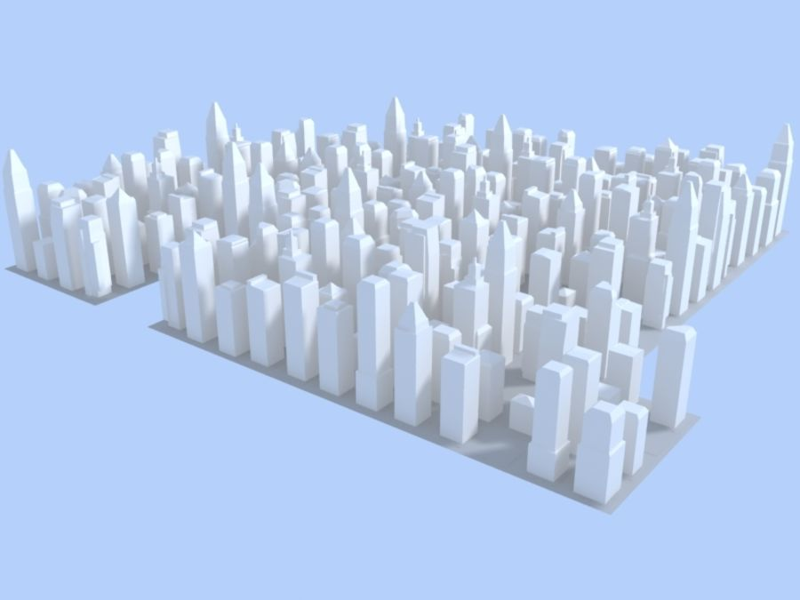 Low Poly City royalty-free 3d model - Preview no. 8