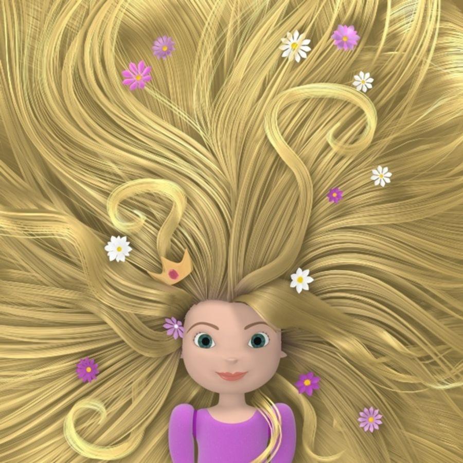 Postać księżniczki royalty-free 3d model - Preview no. 10