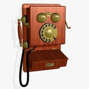 FR Antique Phone 3d model