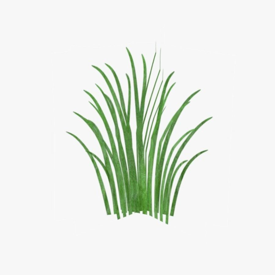 lowpoly grass royalty-free 3d model - Preview no. 1