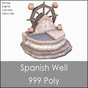 Medieval Well, Low Poly, Textured 3d model