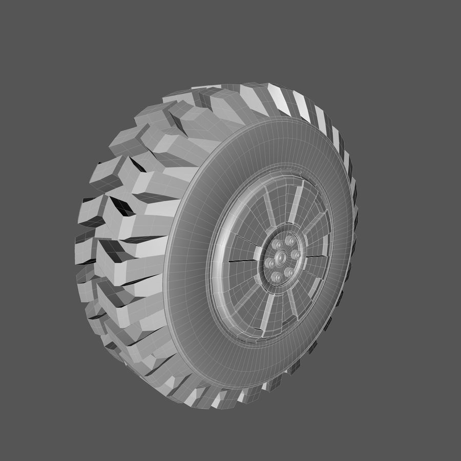 Heavy Vehicle Tyre royalty-free 3d model - Preview no. 6
