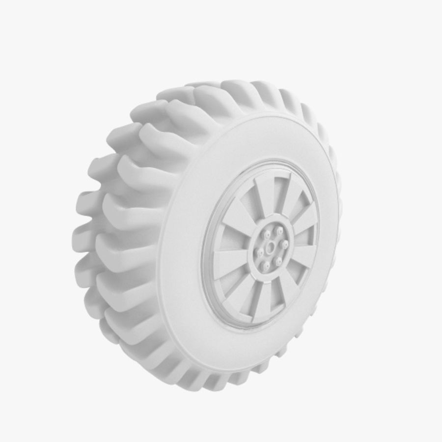Heavy Vehicle Tyre royalty-free 3d model - Preview no. 5