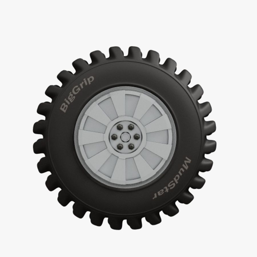 Heavy Vehicle Tyre royalty-free 3d model - Preview no. 2