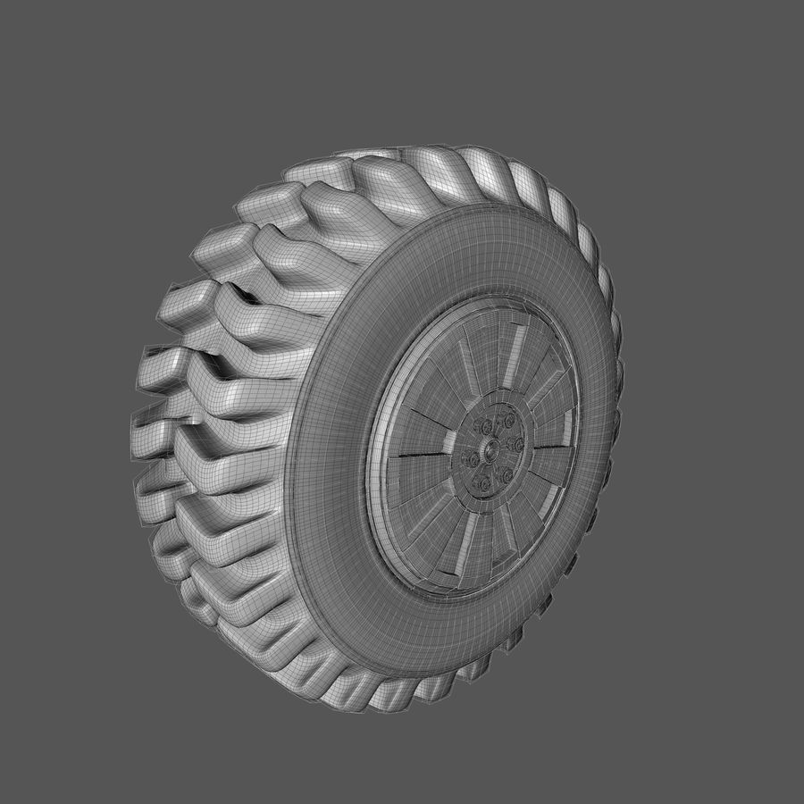 Heavy Vehicle Tyre royalty-free 3d model - Preview no. 7