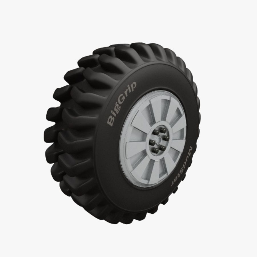 Heavy Vehicle Tyre royalty-free 3d model - Preview no. 1