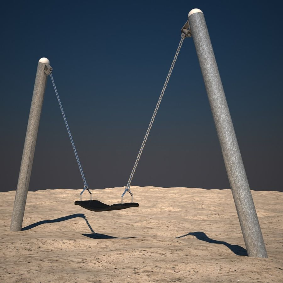 Swing 01 royalty-free 3d model - Preview no. 4