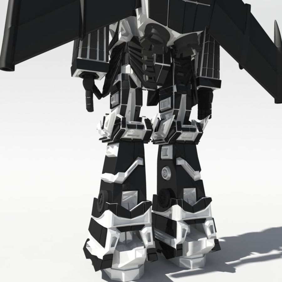 Mech Anime Character royalty-free 3d model - Preview no. 4