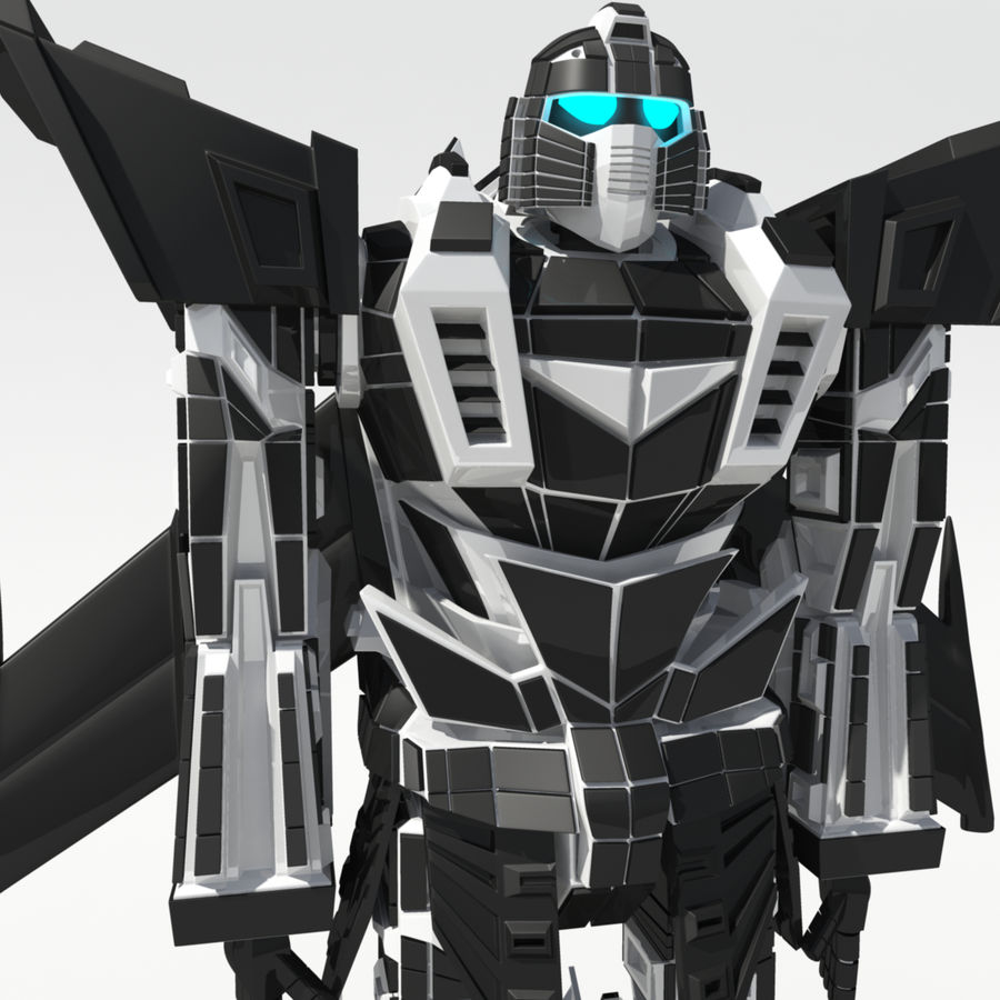 Mech Anime Character royalty-free 3d model - Preview no. 2
