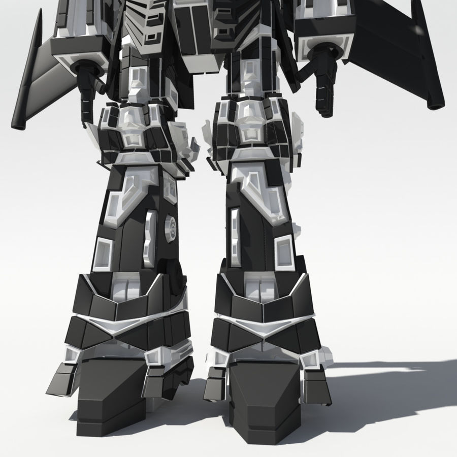 Mech Anime Character royalty-free 3d model - Preview no. 3