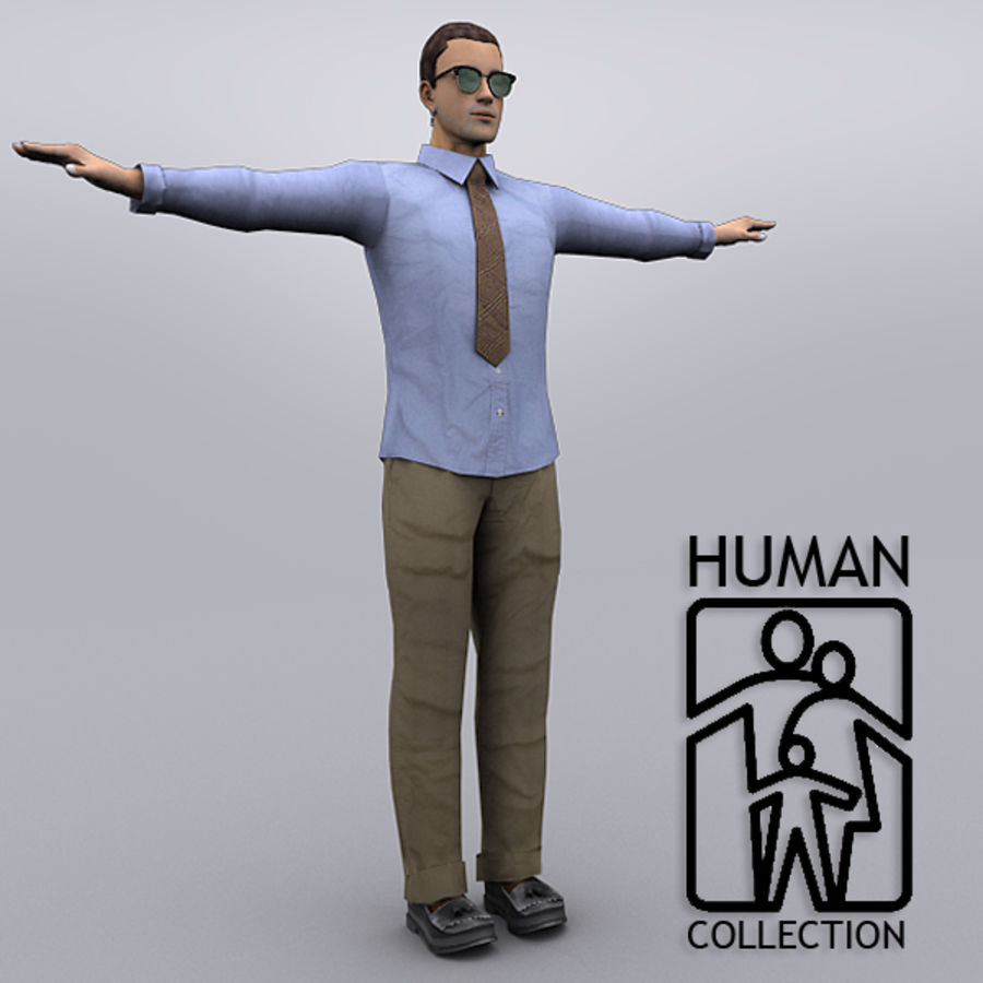 Joey Office royalty-free 3d model - Preview no. 2