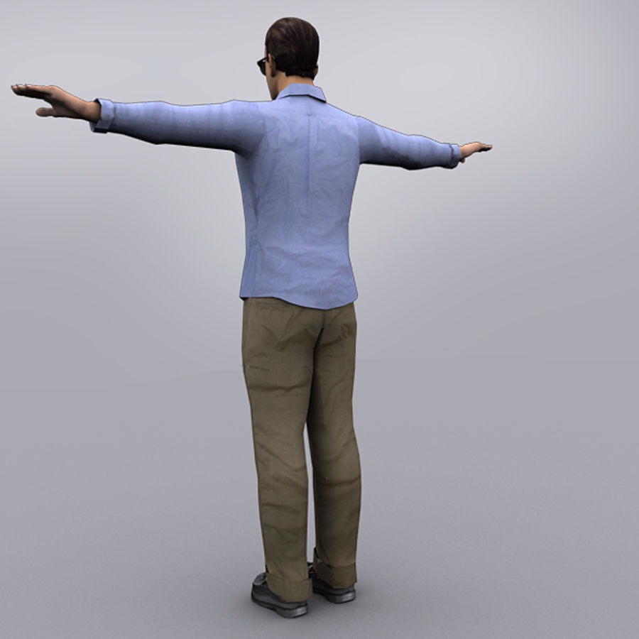Joey Office royalty-free 3d model - Preview no. 3