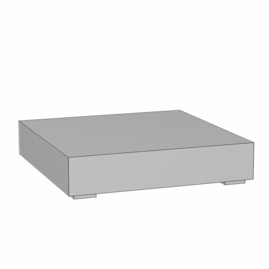 coffee table09 royalty-free 3d model - Preview no. 3