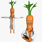 Doctor Carrot Character 3d model