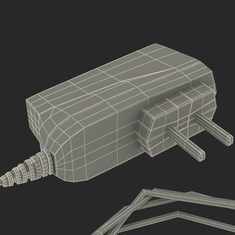 Phone Travel Charger V2 royalty-free 3d model - Preview no. 10