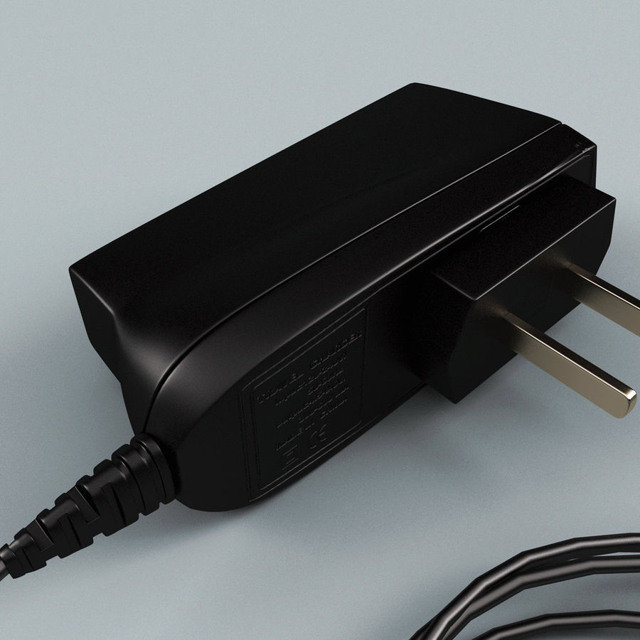 Phone Travel Charger V2 royalty-free 3d model - Preview no. 6