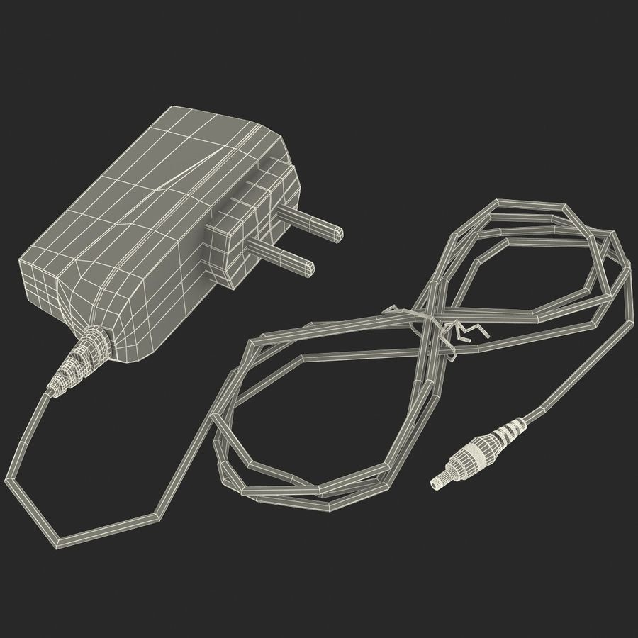 Phone Travel Charger V2 royalty-free 3d model - Preview no. 8