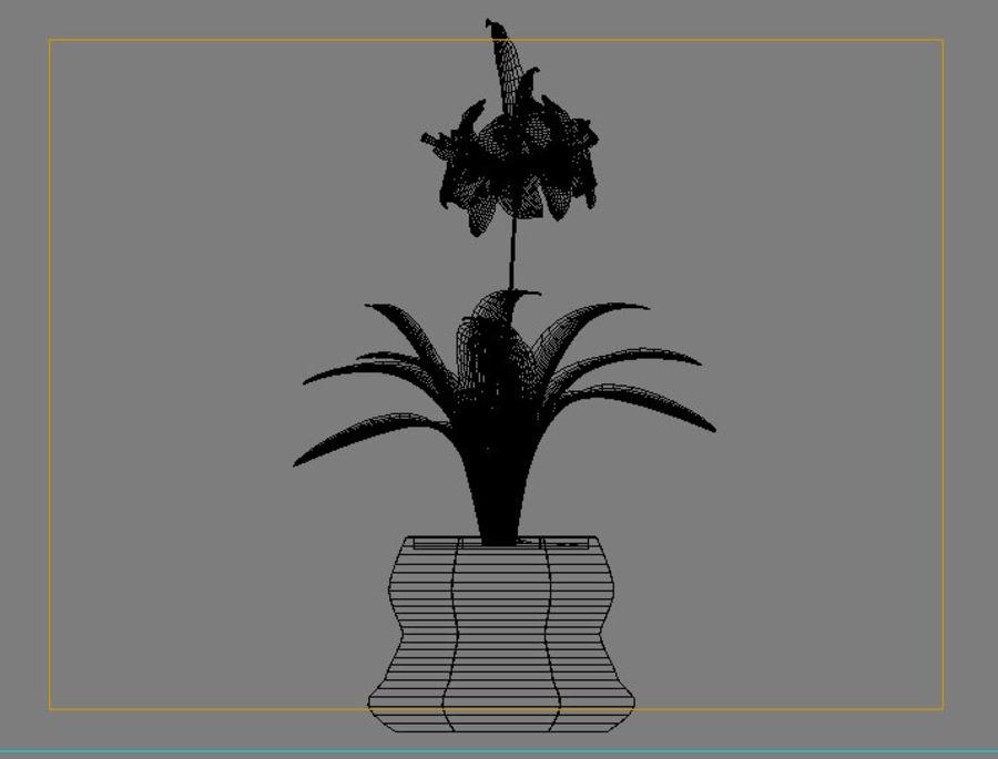 pot de fleur royalty-free 3d model - Preview no. 5
