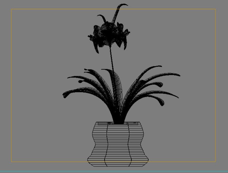 pot de fleur royalty-free 3d model - Preview no. 4