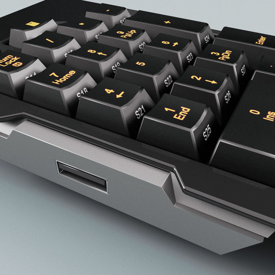 Numeric Keypad royalty-free 3d model - Preview no. 7