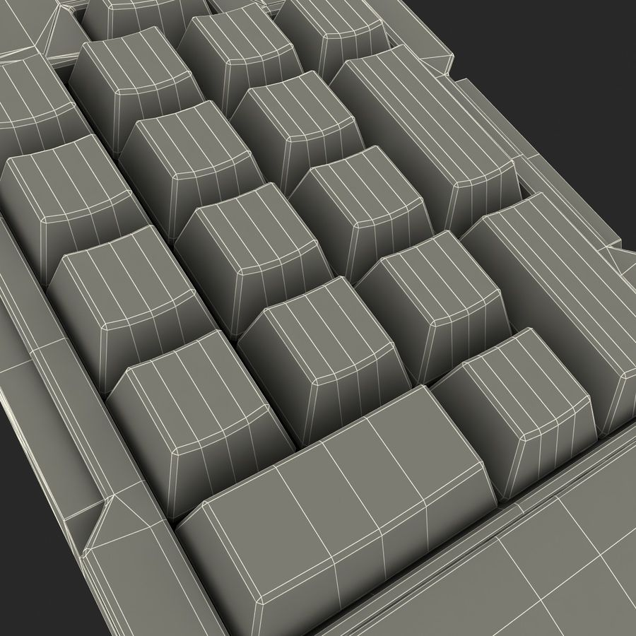 Numeric Keypad royalty-free 3d model - Preview no. 14