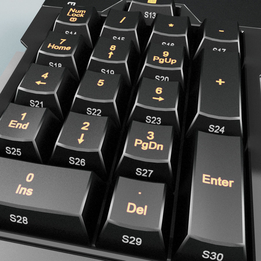 Numeric Keypad royalty-free 3d model - Preview no. 6