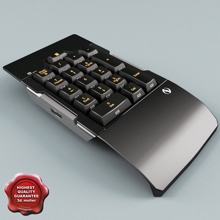 Numeric Keypad royalty-free 3d model - Preview no. 1