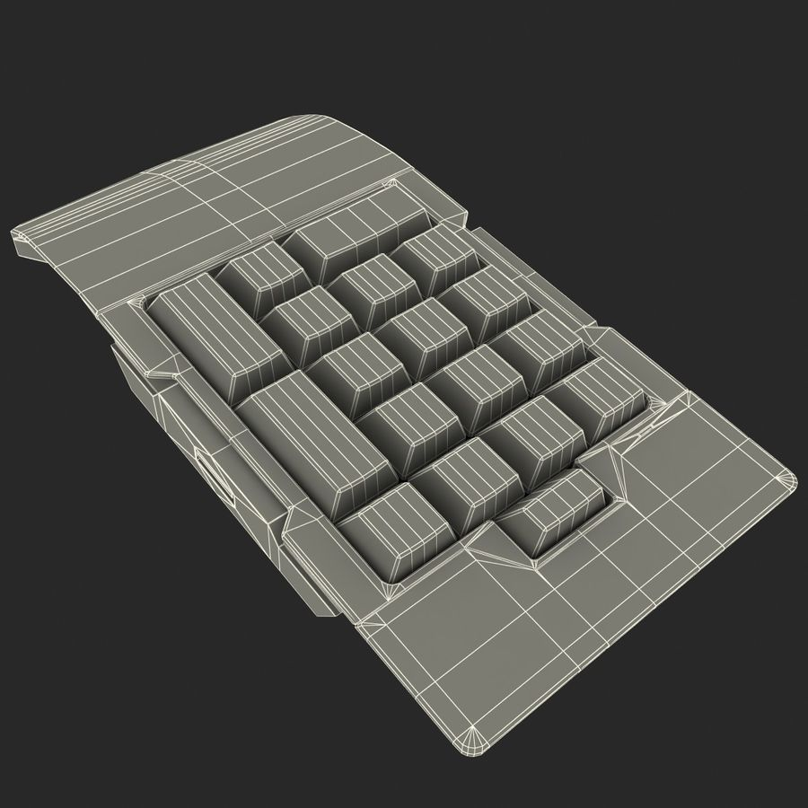 Numeric Keypad royalty-free 3d model - Preview no. 12