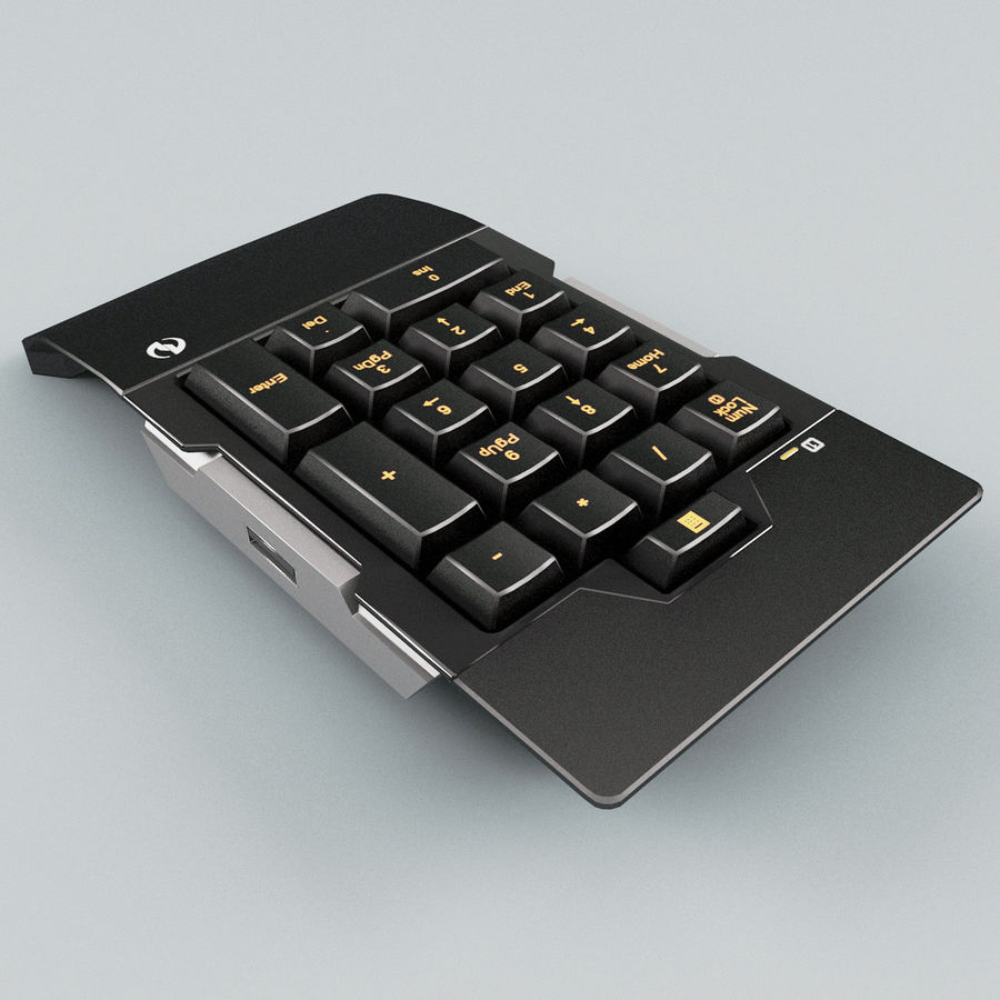 Numeric Keypad royalty-free 3d model - Preview no. 4
