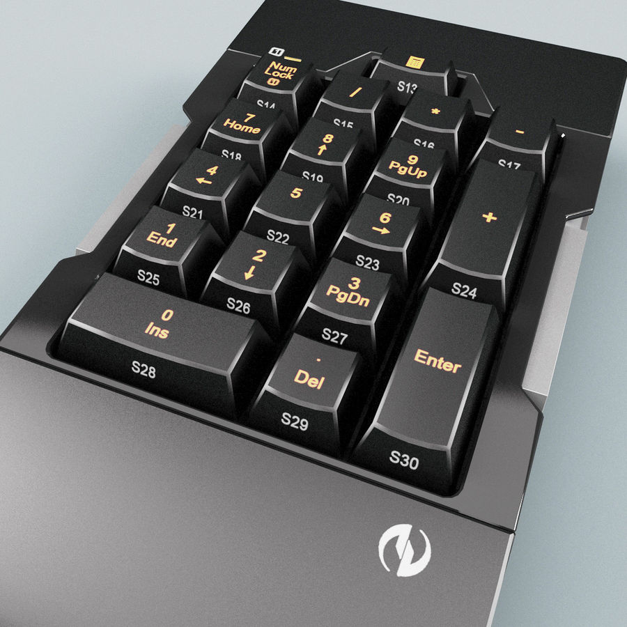 Numeric Keypad royalty-free 3d model - Preview no. 5