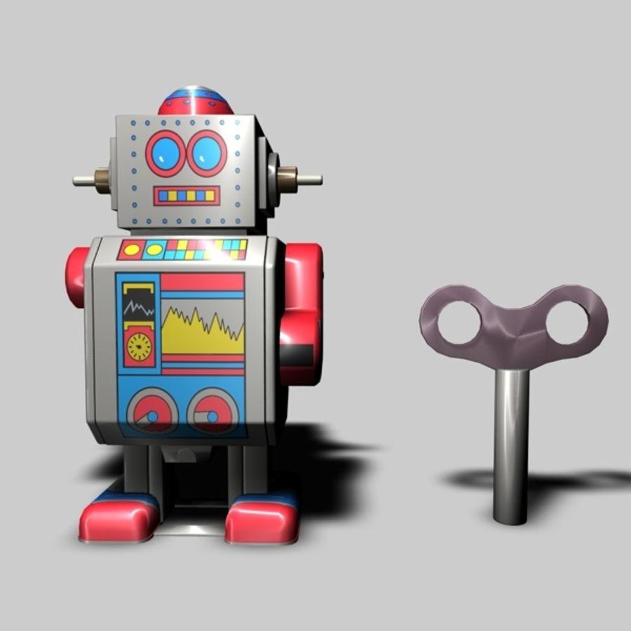 Robot de juguete royalty-free modelo 3d - Preview no. 5