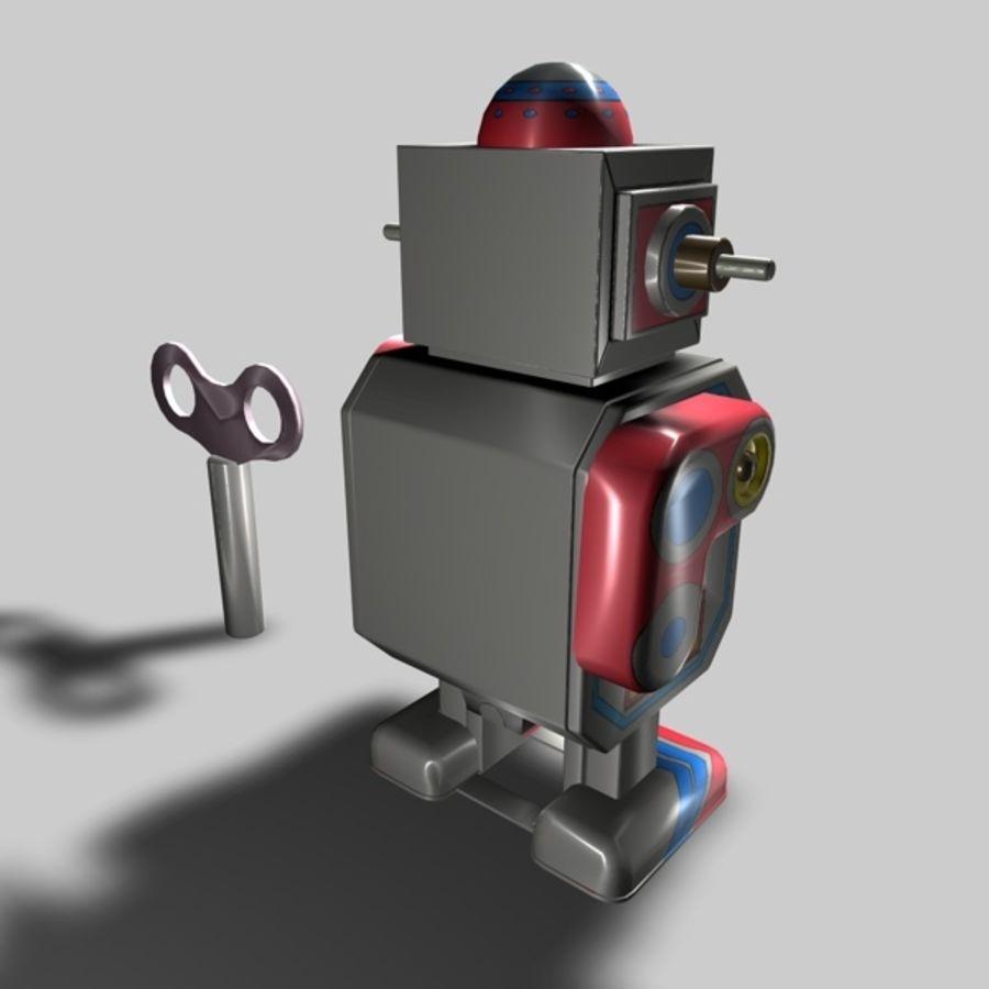 Robot de juguete royalty-free modelo 3d - Preview no. 7
